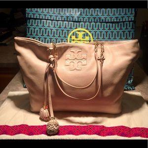Tory Burch Leather Thea Tassel Chain Tote Bag